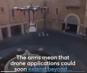 PICTURE OF DRONE ARMS HOLDING THE CHAIR