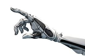 AI Robot hand and fingers