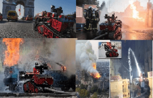 The firefighting robot 'Colossus' in action