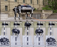 SpaceBok robot during training for jumping and walking movement