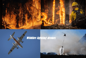 wildfire fighting drones